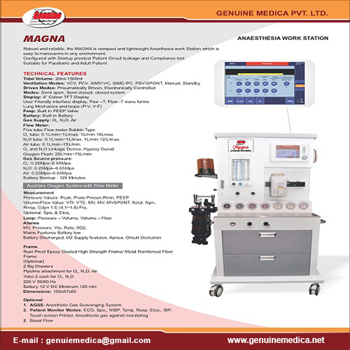 Anaesthesia Workstation Manufacturer