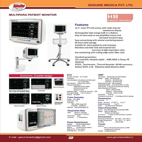 Multi Parameter Monitor Manufacturer