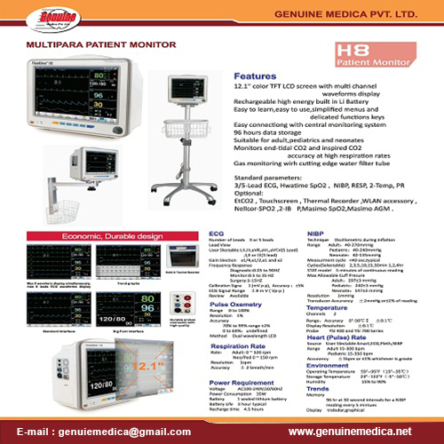 Multi Parameter Monitor Manufacturer